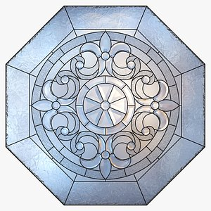 Stained-glass window  octahedron 2 3D model