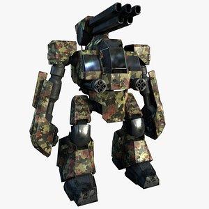 3D model Robot Mecha Military