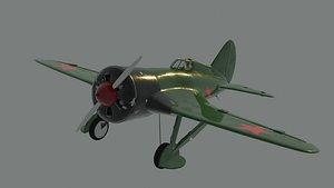 Soviet fighter aircraft I-16 3D