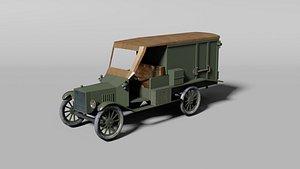 WW1 ambulance car 3D model