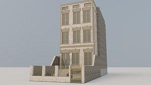 Classic Facade Building 01 3D model
