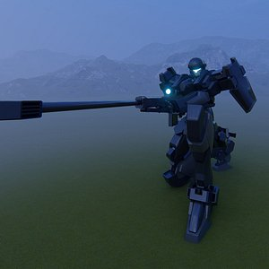 3D model robot transformer