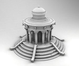 3D model greek gazebo
