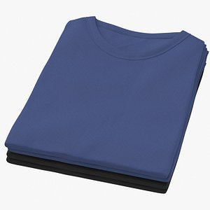 Female Crew Neck Folded Stacked Color Variations 10 model