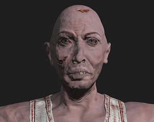 3D male zombie