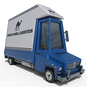 branded cartoon box truck model