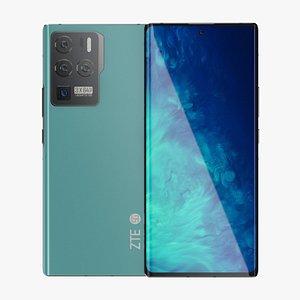 3D ZTE Axon 30 Ultra Blue