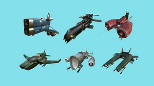 3D aircraft spaceship - airplanes model