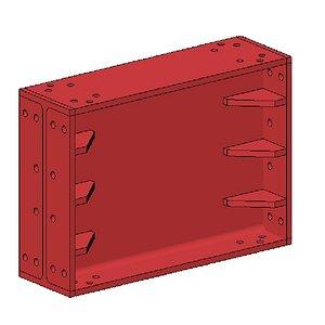 Strut 650 x 300 1m 3D model