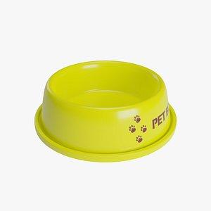 3D model Pet Bowl Yellow