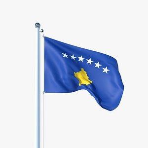 3D model Animated Flag of Kosovo