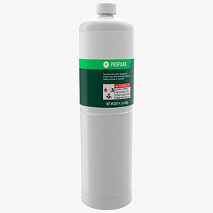 Hand Torch Propane Fuel Cylinder 3D model