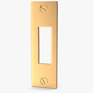 3D Door Strike Plate Golden V02