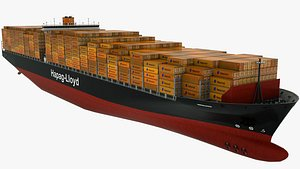 Container Ship Hapag Lloyd Hannover Express 3D model