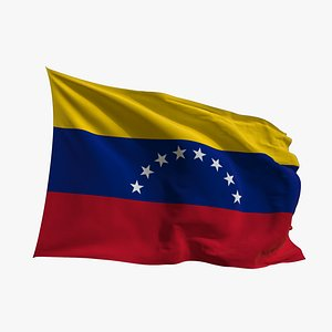 Realistic Animated Flag - Microtexture Rigged - Put your own texture - Def Venezuela model