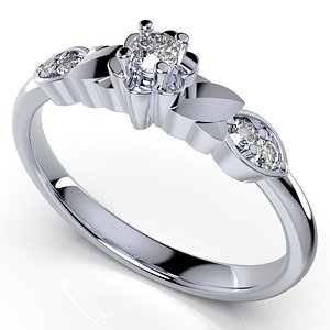 ring light weight solitaire 3D model