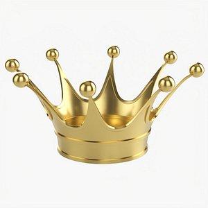 Royal coronation gold crown 01 3D model