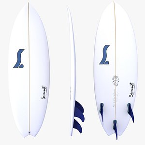 Surfboard Fish Tail model