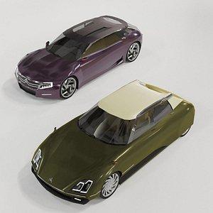 3D Citroen DS concept set