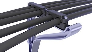 supports cable 3D