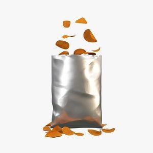 3D Potato Chip Bag  180x275mm
