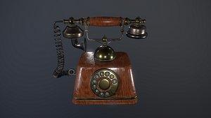 Vintage retro telephone 3D model 3D