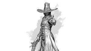 3D witch hunter model