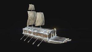 3D model korean turtle ship -