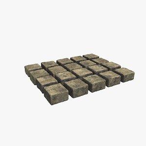 stone rock architecture 3D model