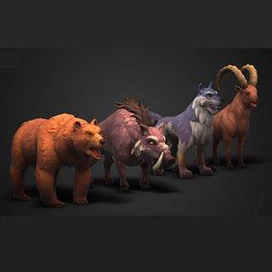 3D animals stylized model