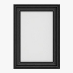 3D Frame with picture portrait 02 model