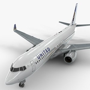boeing 737-8 united airlines 3D model