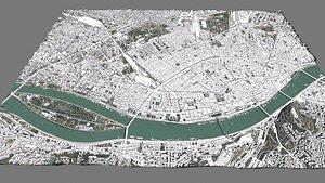 3D model Cityscape  Budapest Hungary