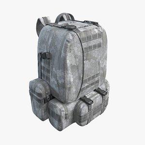 3D Military Backpack Gray model