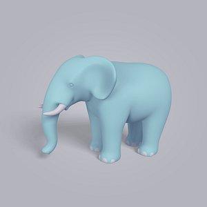 cartoon elephant 3d model