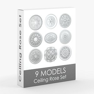 3D Ceiling Rose Medallion Small Pack
