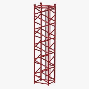 3D model crane d intermediate section