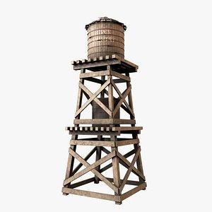 3D model Old Water Tower V3