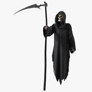 Grim Reaper Holds Out Scythe 3D model
