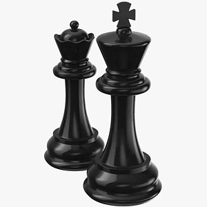 3D model Chessmen king And Queen