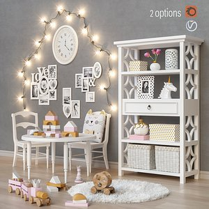 3D set furniture toys