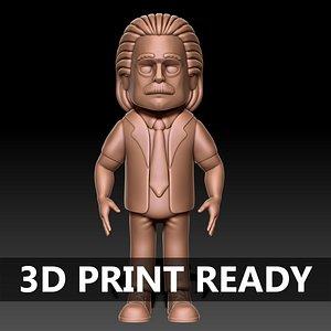 albert einstein 3D model