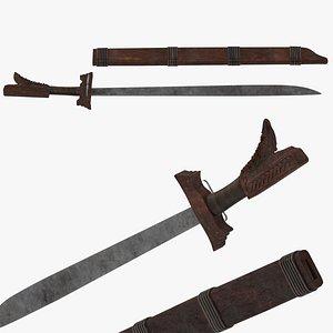 3D Kampilan Sword model