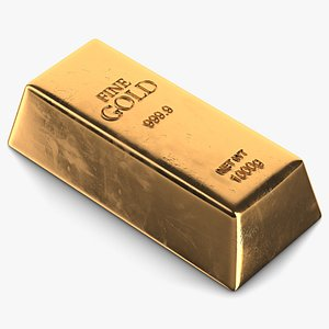 3d gold bar 1