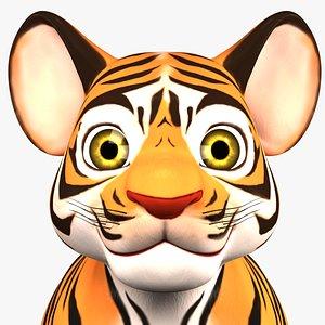 tiger cub 3D model