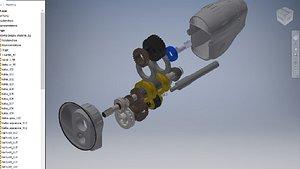 3D Car gearbox
