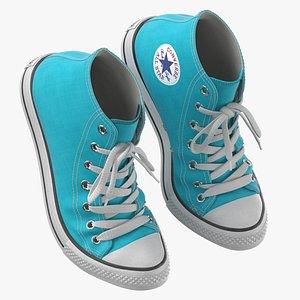 Basketball Shoes Bent Light Blue 3D