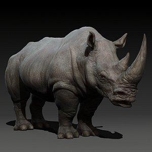 3D animal rhino