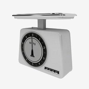 3D Balance scale stube 10 kg old 1950-1960