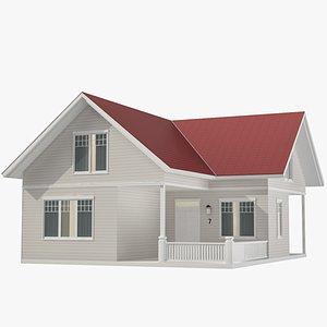 Family House 06 3D model